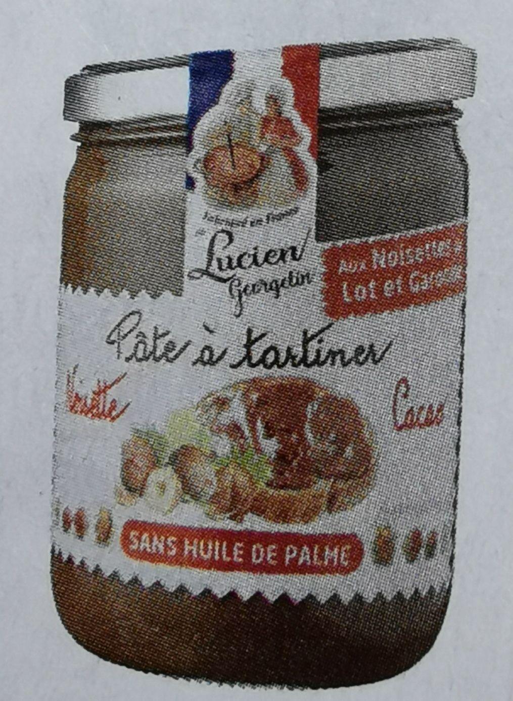 Lot de 2 pots de pâte à tartiner sans huile de palme noisette cacao Lucien Georgelin - 2 x 400g