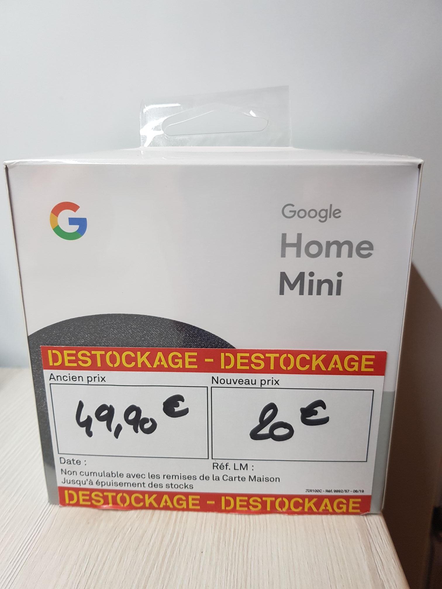 Assistant connecté Google Home Mini - Leroy Merlin de Theix (56)