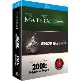 Coffret Blu-Ray 3 films : Matrix, Blade Runner & 2001: l'odyssée de l'espace