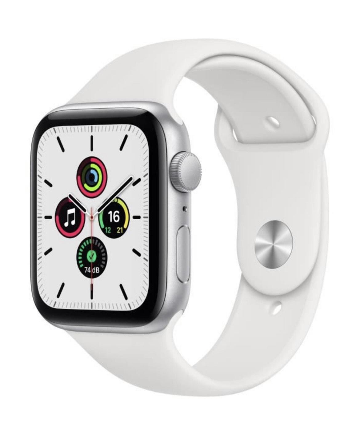 Montre connectée Apple Watch SE - 44mm, GPS; Bracelet Sport Blanc