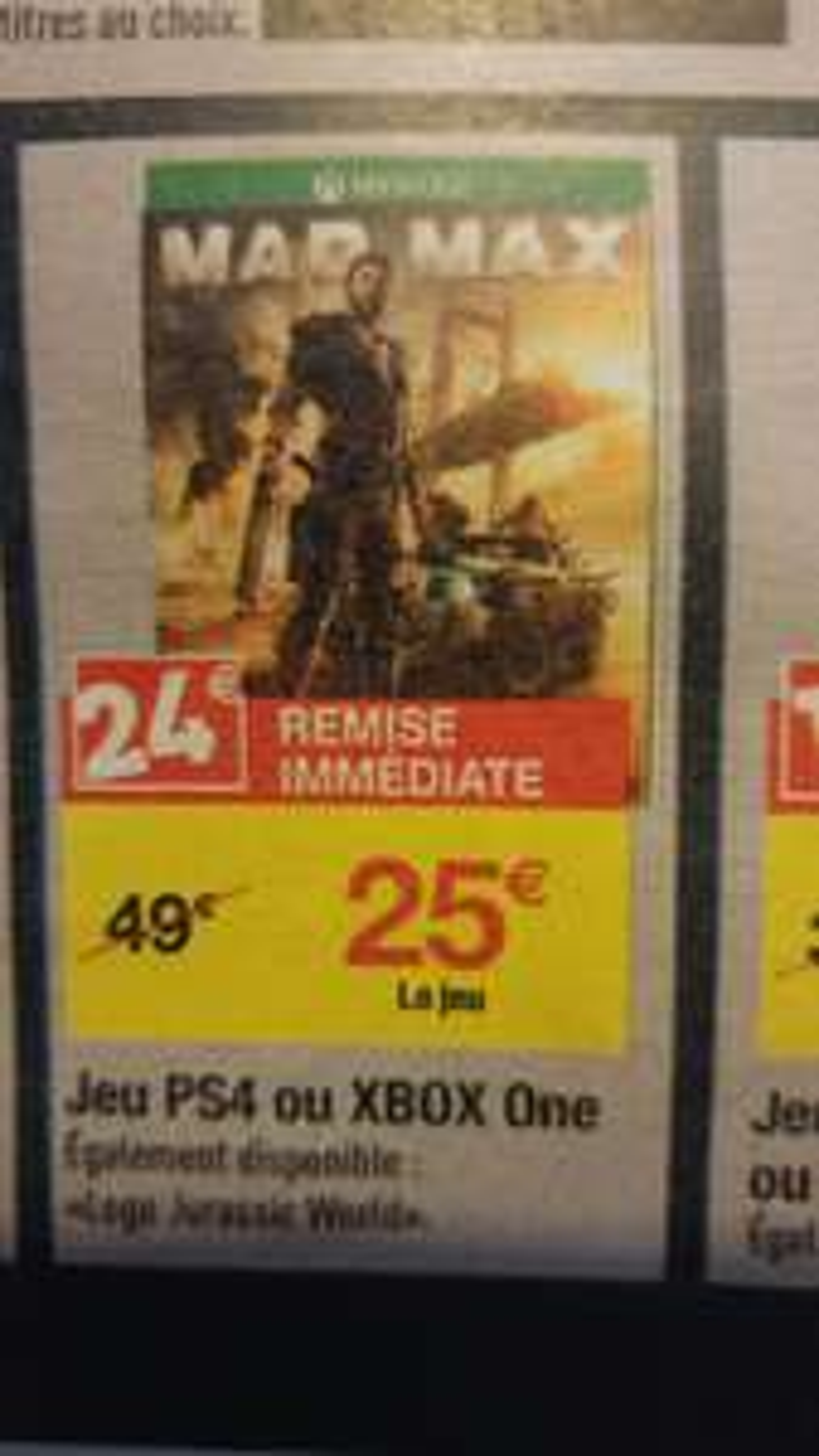 Sélection de jeux PS4 et Xbox One en promotion - Ex : Mad Max