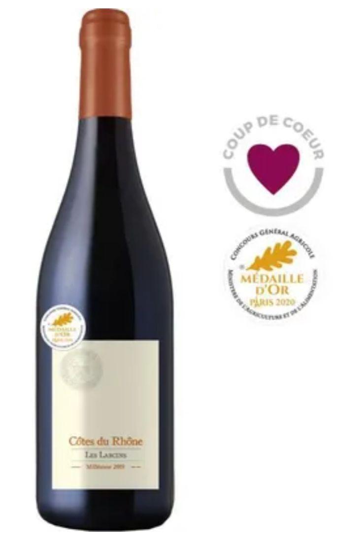 Vin rouge de la Vallée du Rhône Les Larcins 2019 Côtes du Rhône - 75 cl