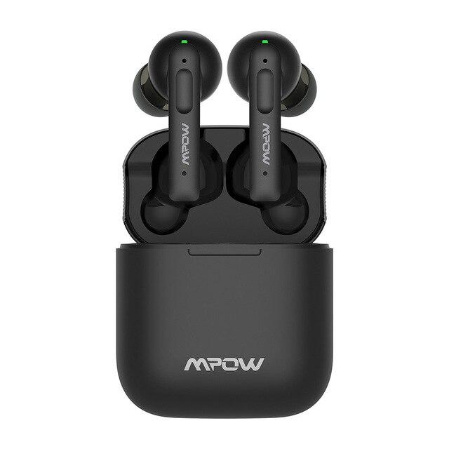 Ecouteurs intra-auriculaires sans fil Mpow X3 ANC - Bluetooth 5.0, Noir