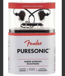 Ecouteurs intra-auriculaires filaires Fender PureSonic Wired - Noir ou blanc