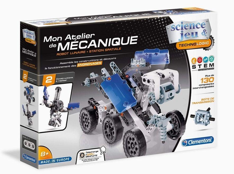 Clementoni Mon Atelier de Mécanique 52339 - Robot Lunaire et Station Spatiale