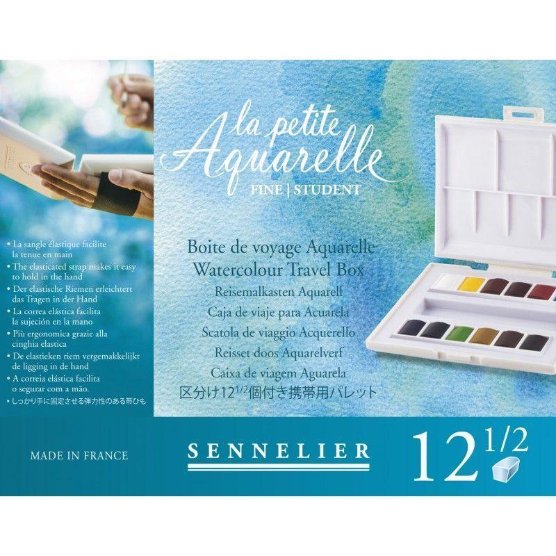 Boîte d'aquarelle fine : La petite aquarelle- 12 demi-godets (beauxarts.fr)