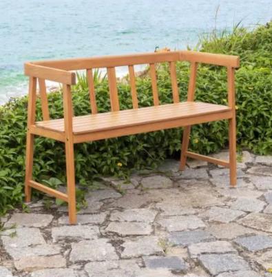 Banc de jardin 2 ou 3 places en bois d'eucalyptus FSC - 110 x 45.5 x 72 cm -