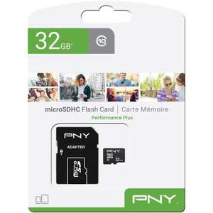 Carte mémoire Micro SD PNY Performance Plus C10 - 32 Go