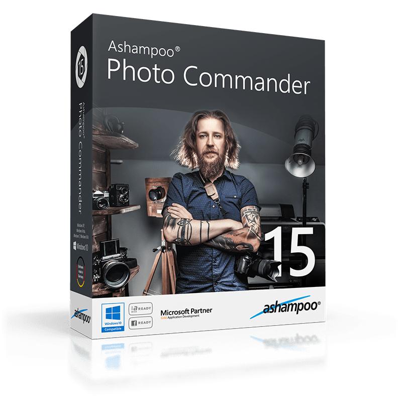 Sélection de logiciels Ashampoo gratuits sur PC (Dématérialisés) - Ex : Photo Commander 15