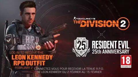 Ensemble de skins Resident Evil pour The Division 2 gratuits (Dématérialisé)
