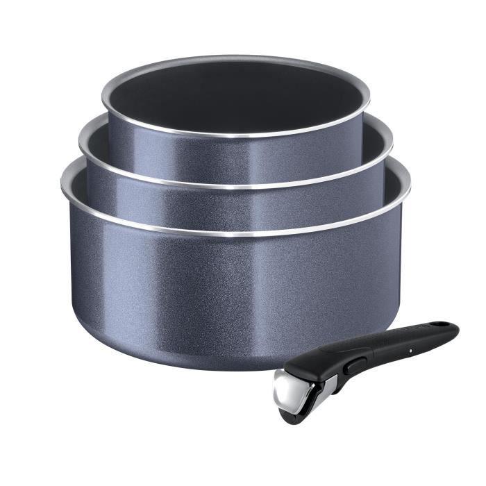 Lot de 3 casseroles TEFAL Ingenio Elegance avec poignée amovible - Ø 16 / 18 / 20 cm