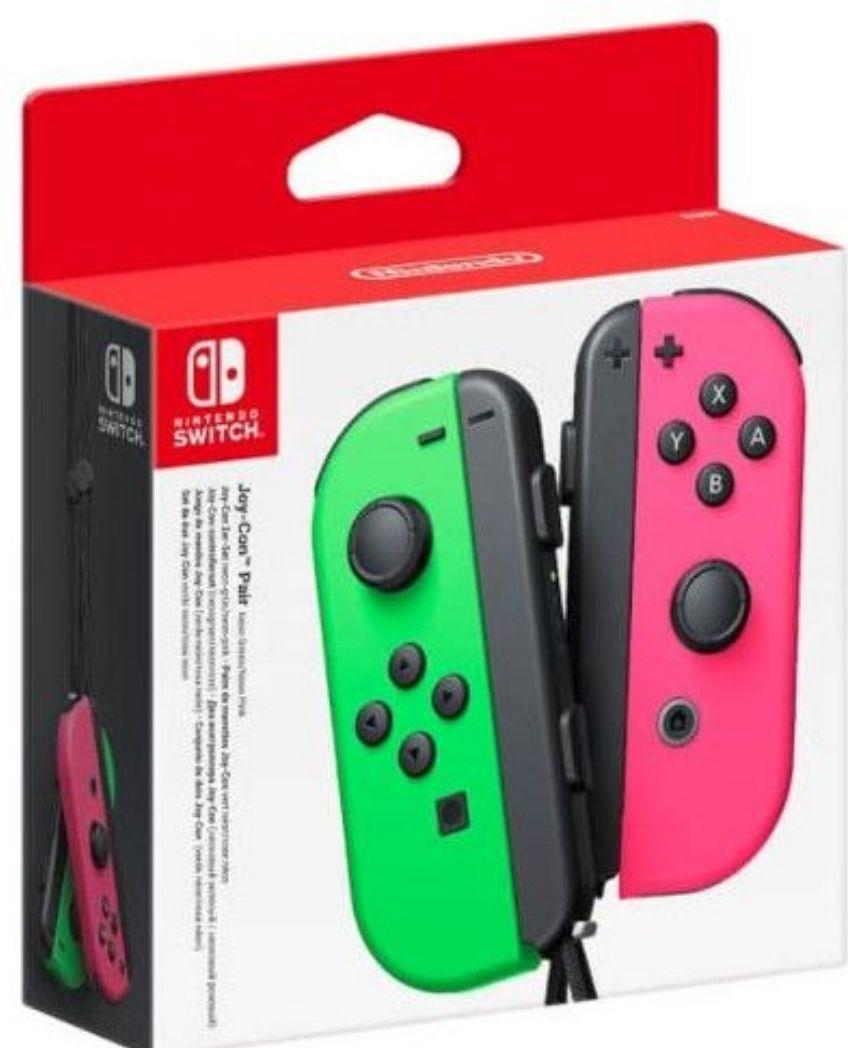 Paire de manettes sans-fil Nintendo Joy-con pour Switch - Vert fluo & Rose néon (+ 3€ en Rakuten Points) Vendeur Boulanger