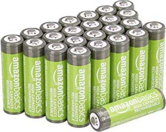 24 Piles rechargeables AmazonBasics AA 2400 mAh