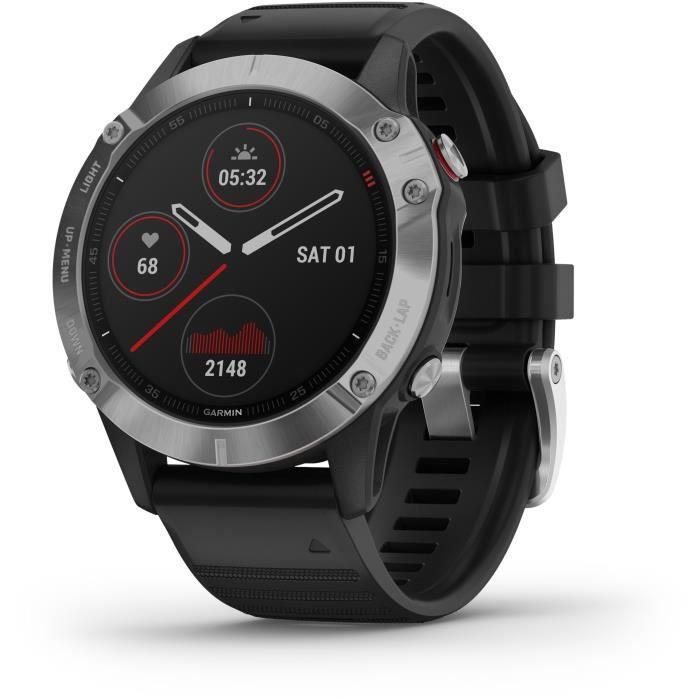 Montre connectée GPS Garmin Fenix 6 - Noire