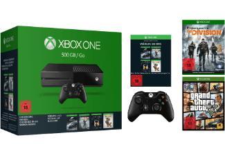 Console Microsoft Xbox One 500 Go + 2e manette + The Division + GTA 5 + 1 jeu au choix