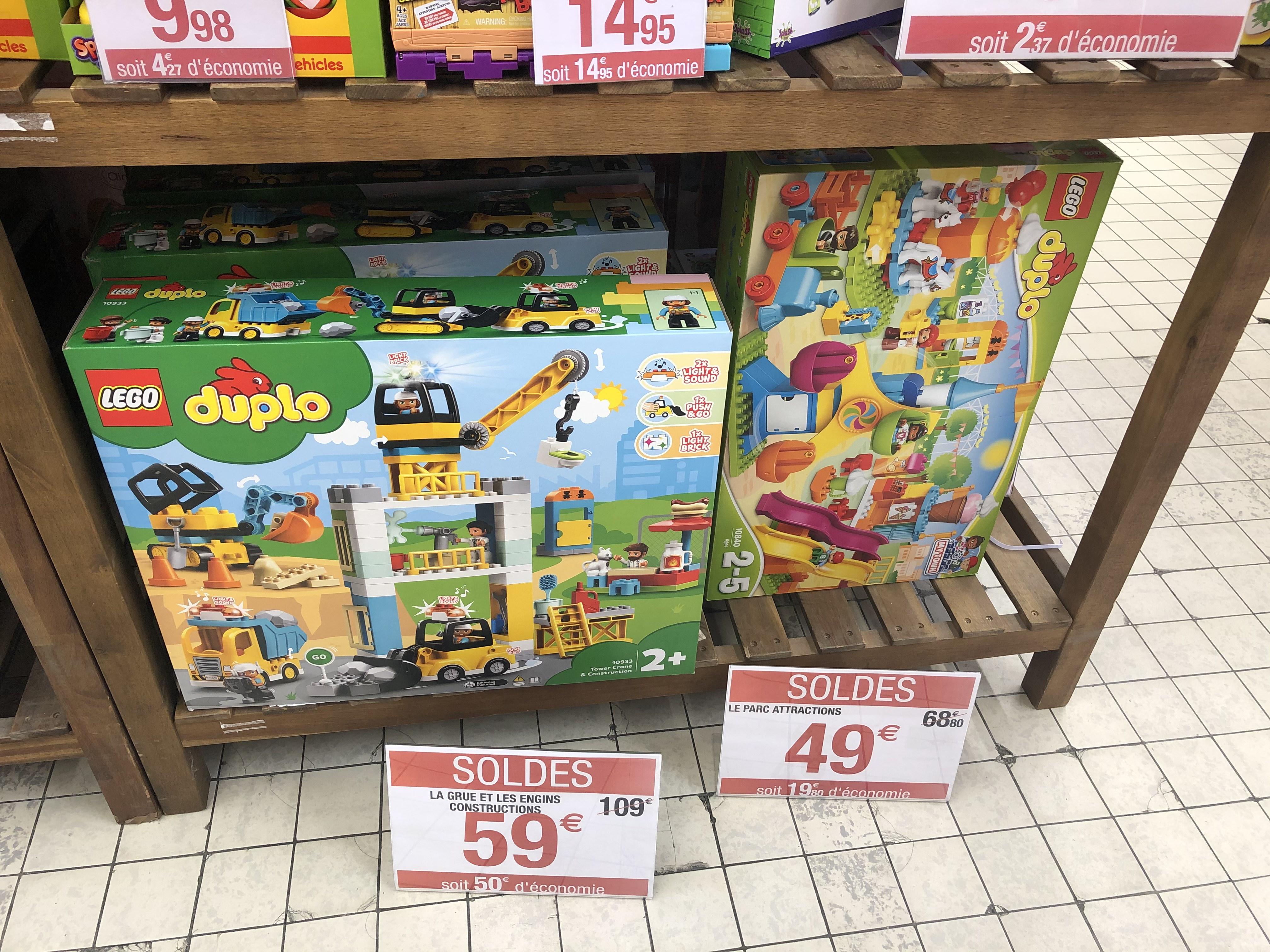 Sélection de jouets Lego Duplo en promotion (Ex: La Grue et Les engins de Construction) - Merignac (33)