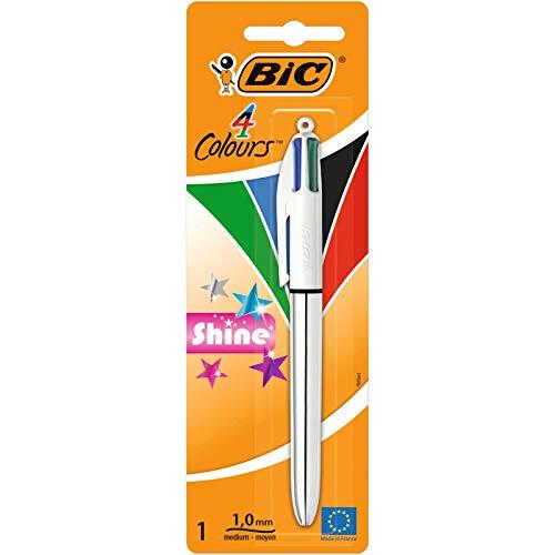 Stylo-billes 4 couleurs Bic 4 Colours Shine