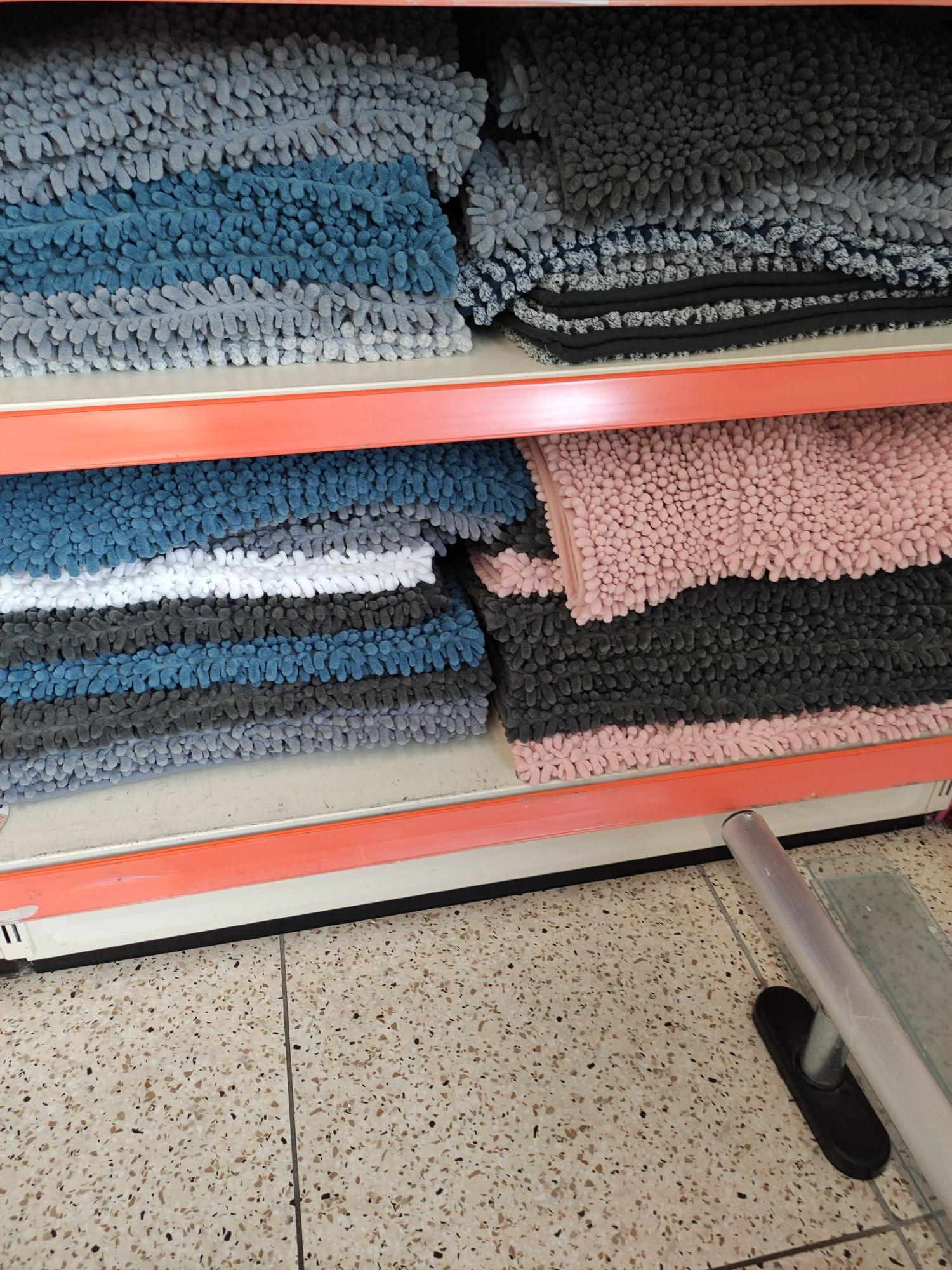 Tapis de salle de bains Chenille - 50x80 cm, différents coloris