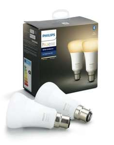 Pack de 2 ampoules Philips Hue White Ambiance B22