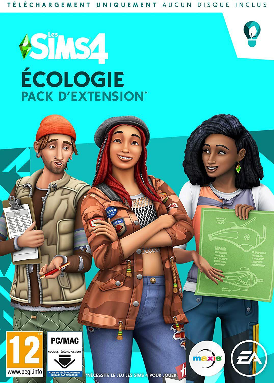 Sélection de packs d'extensions Les Sims 4 sur PC en promotion - Ex: Les Sims 4 Écologie