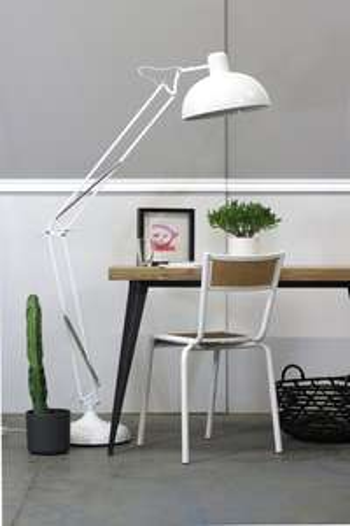 Lampadaire droit Red Cartel XXL - Design métal blanc,