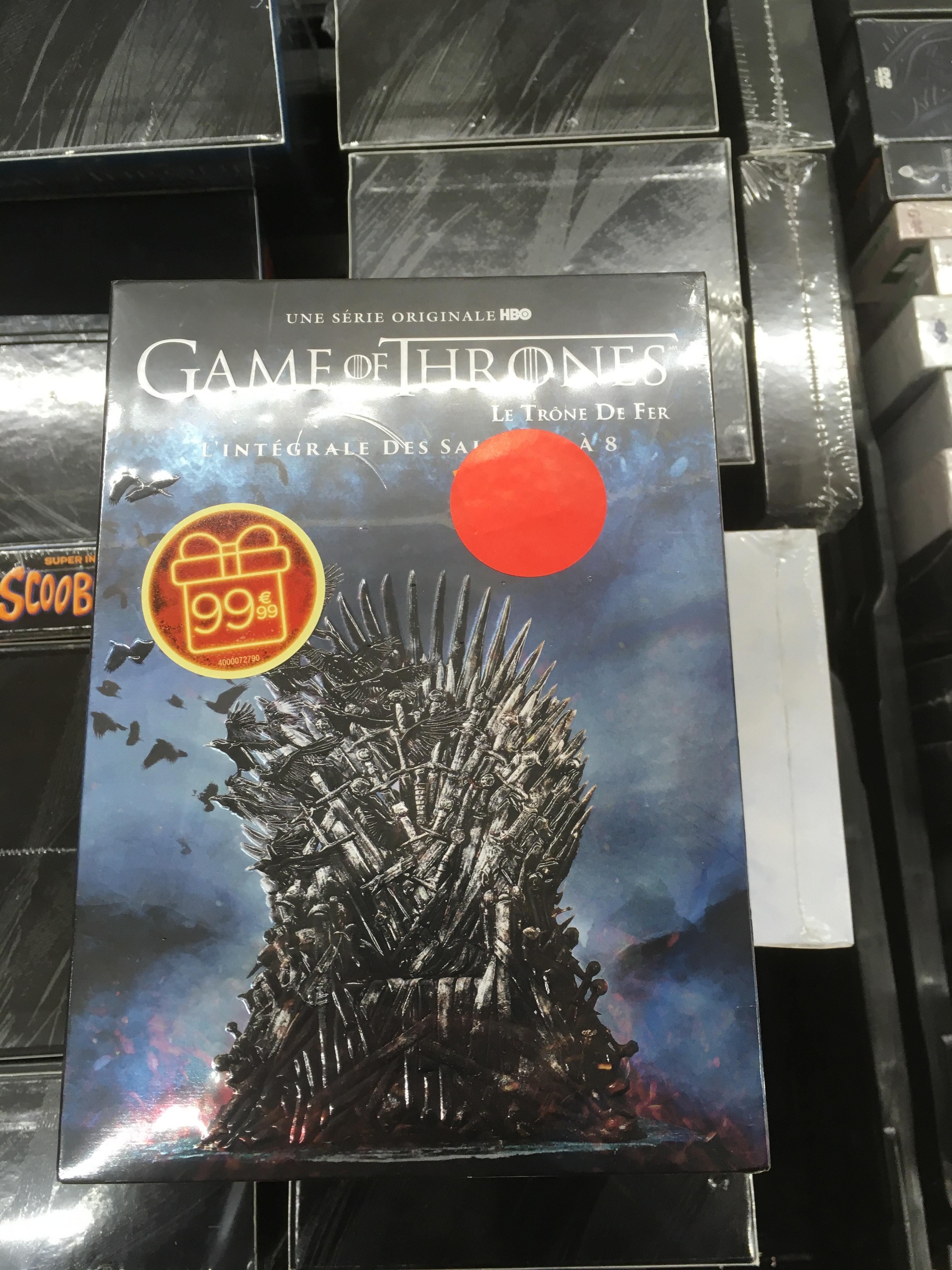 Coffret DVD Game of Thrones - L'Intégrale Saison 1 à 8 (Lille Euralille - 59)