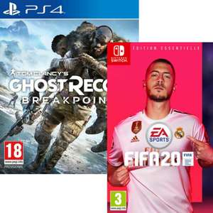 Ghost Recon Breakpoint sur Xbox One ou FIFA 20 sur PS4