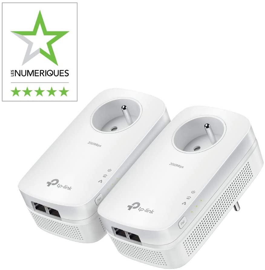 CPL TP-Link TL-PA9025P KIT avec 2 prises Ethernet 2000Mbps/s