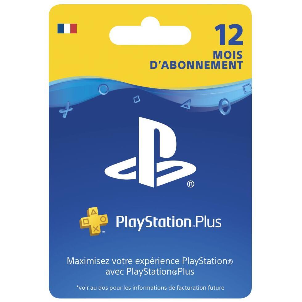 Carte Sony Playstation Plus PS+ - Abonnement de 12 Mois