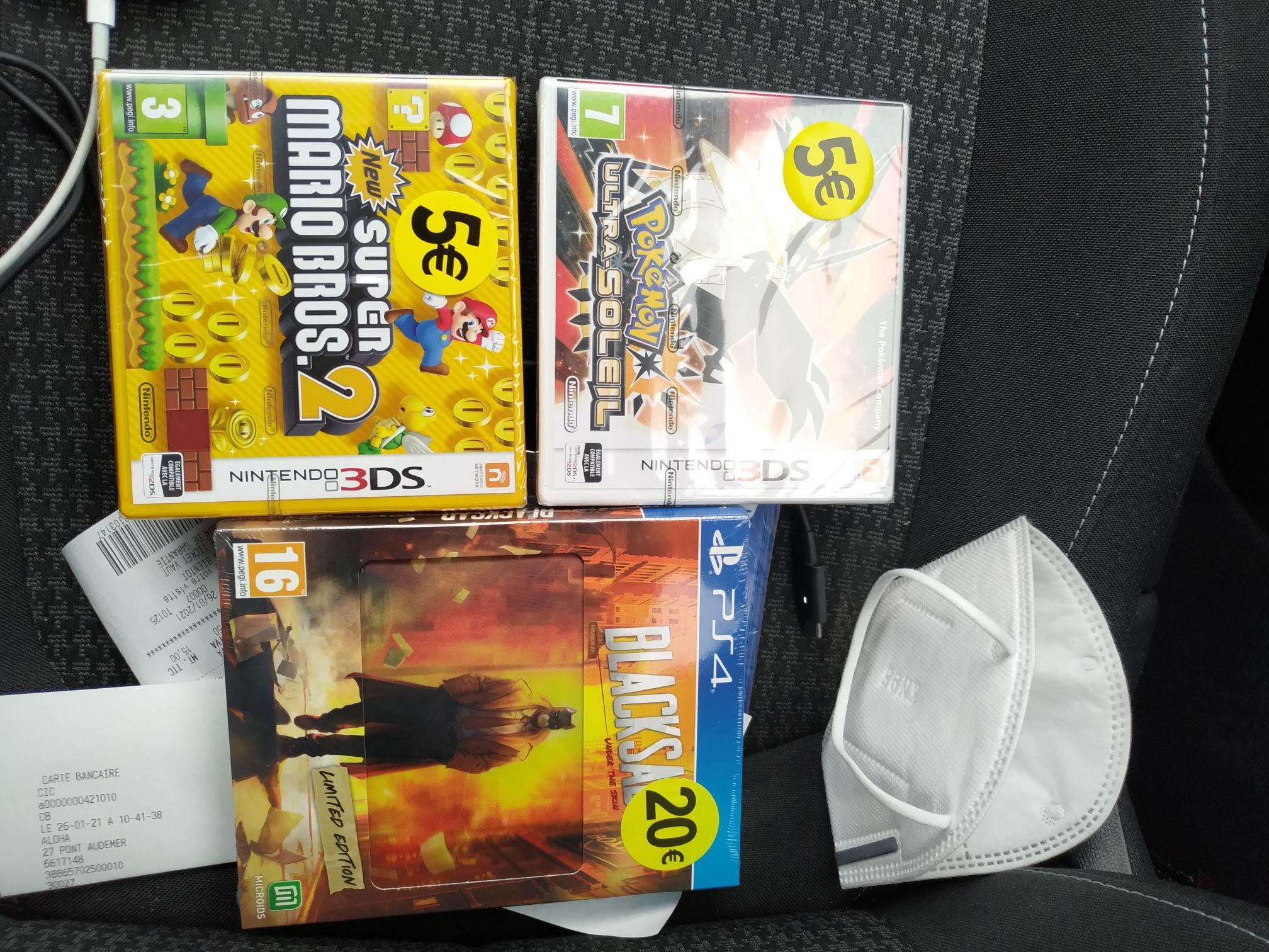 Sélection de Jeux Vidéo Nintendo 3DS et PS4, Xbox One à partir de 5€ (Pont Audemer 27)