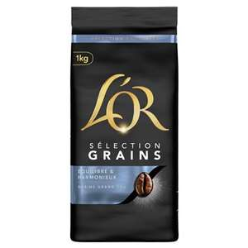 Lot de 2 paquets de café en grains L'Or Sélection Grains (2x1 kg)