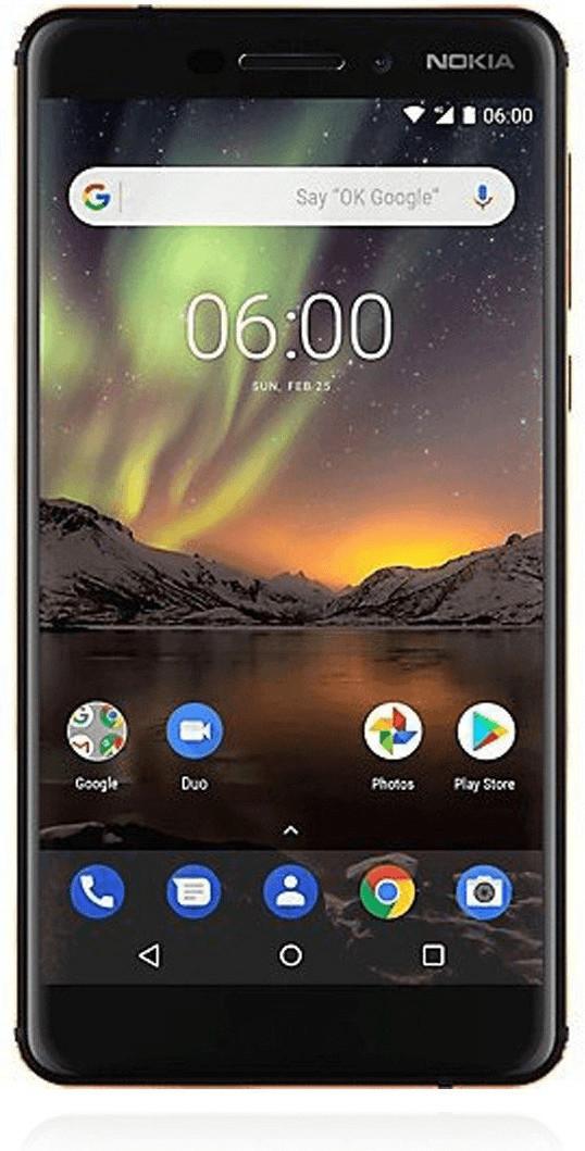 "Smartphone 5.5"" Nokia 6.1 - full HD, SnapDragon 630, 3 Go de RAM, 32 Go, 4G B20/B28 (entrepôt France)"