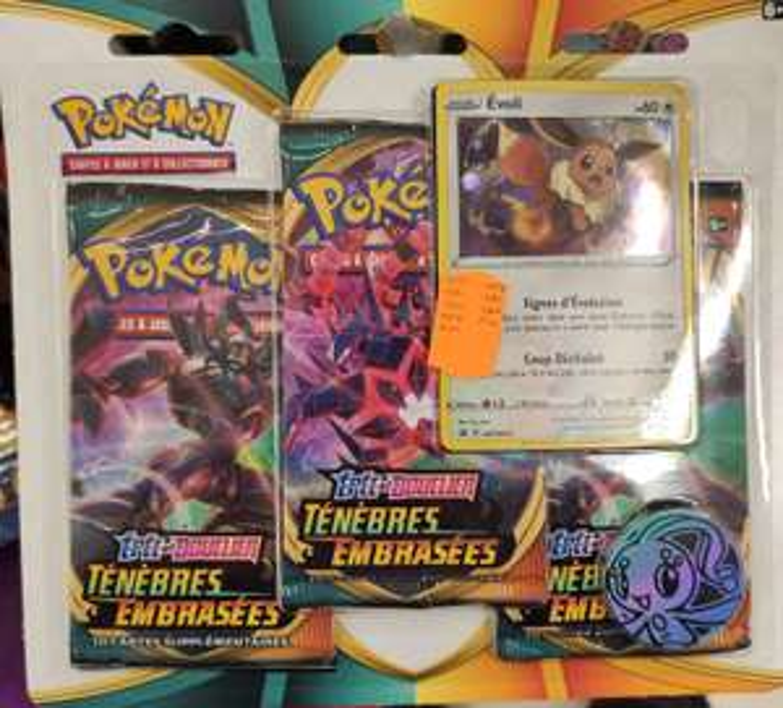 Lot de 3 boosters ou deck Pokémon Epée & Bouclier Ténèbres Embrasées - Thionville (57)