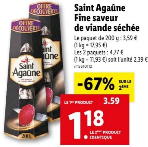Lot de 2 viandes séchées Saint-Agaûne Fine Saveur