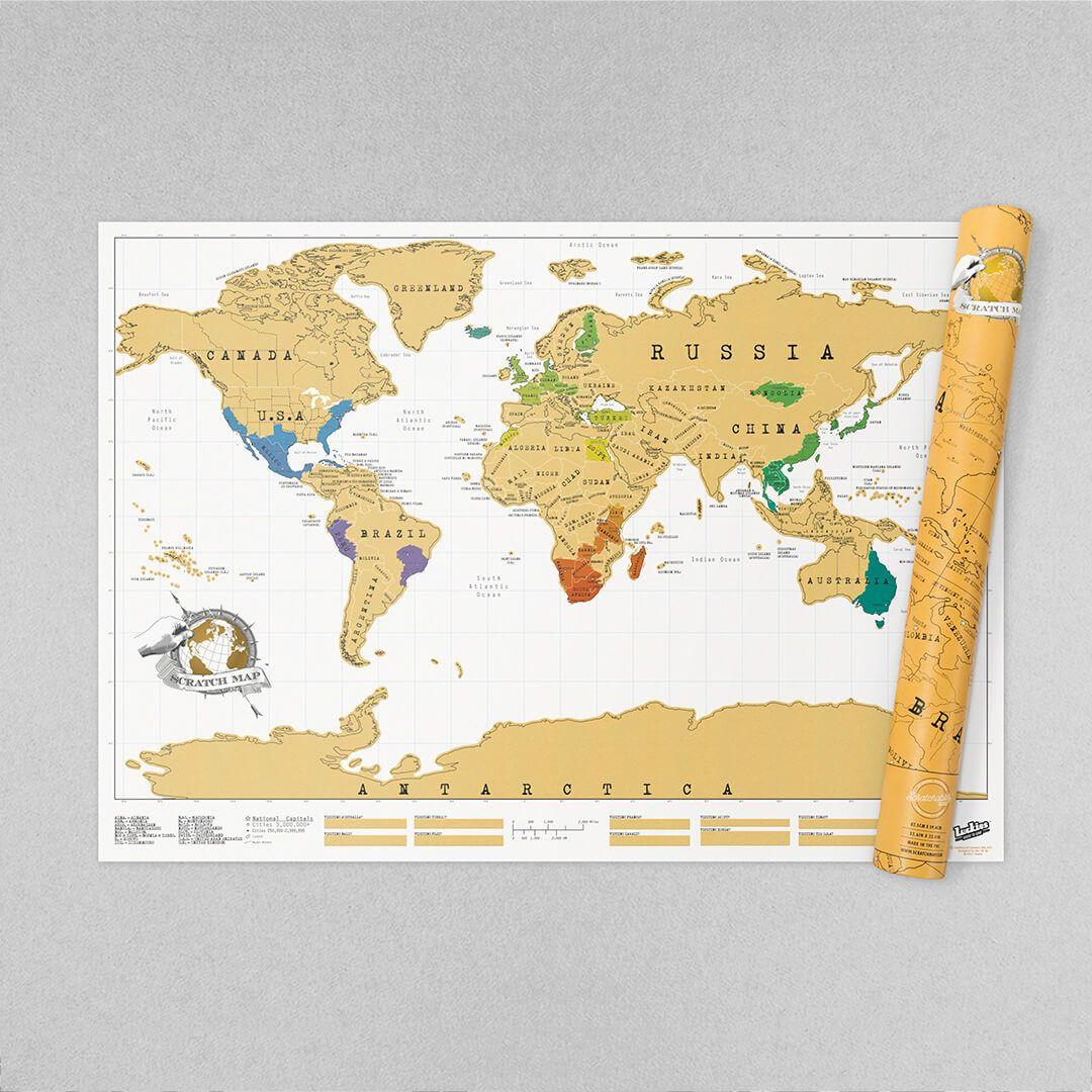 Carte du monde à gratter Luckies - Chauray (79)