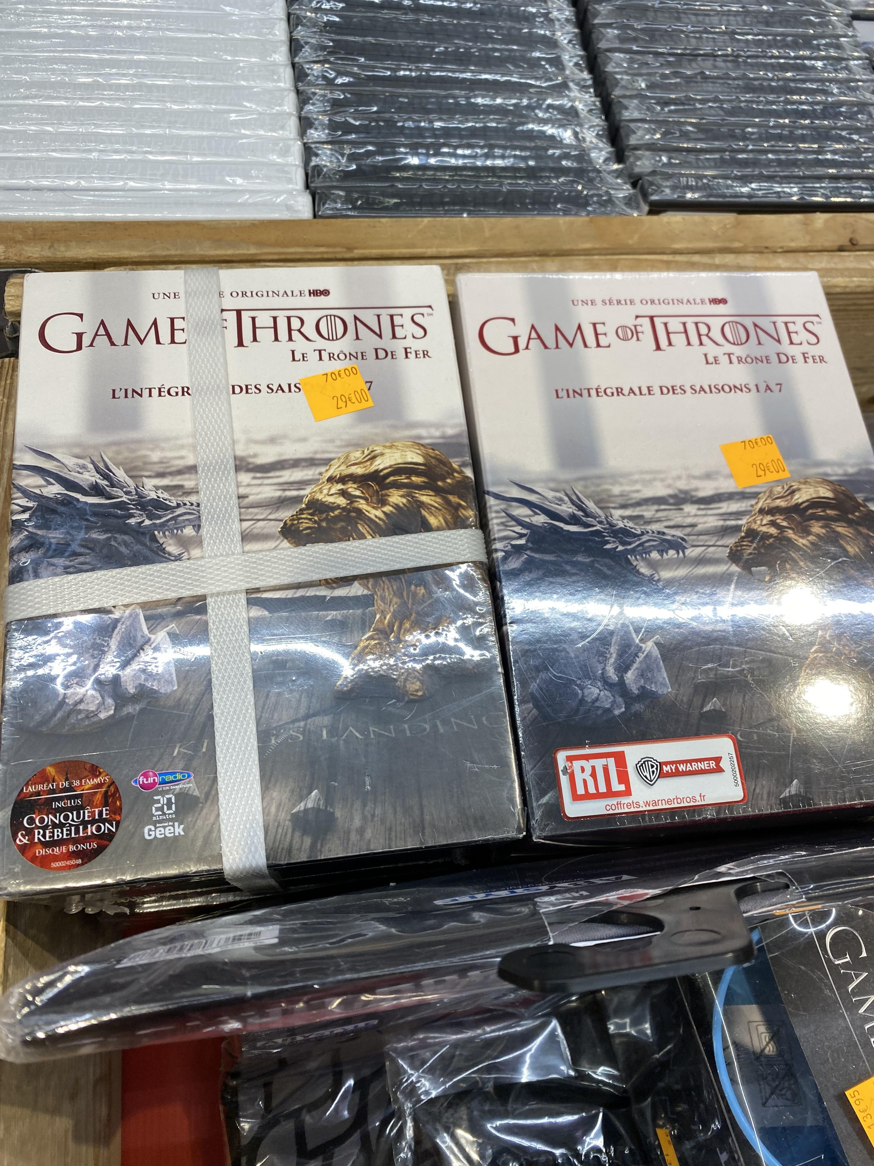 Coffret DVD Game of Thrones (Le Trône de Fer) - L'intégrale des saisons 1 à 7 - Ivry sur Seine (94)