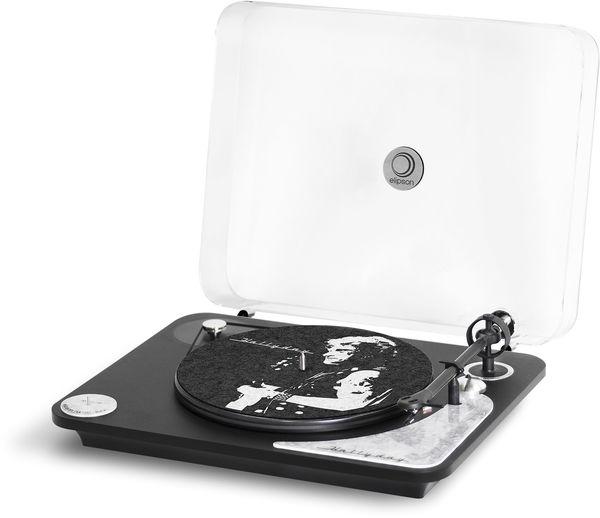 Platine vinyle pré-amplifiée Elipson Alpha 100 RIAA Johnny Hallyday Noire