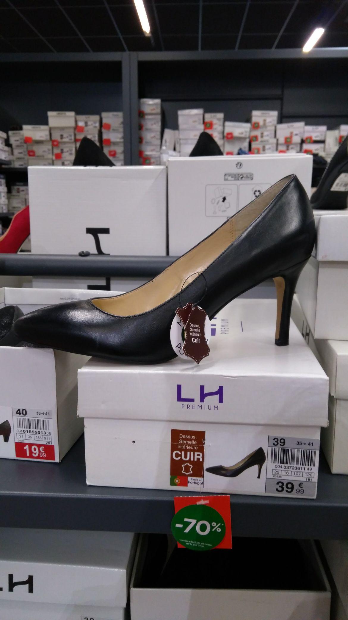 Escarpins noir en cuir, made in Portugal - Halle aux chaussures à Nice (06)