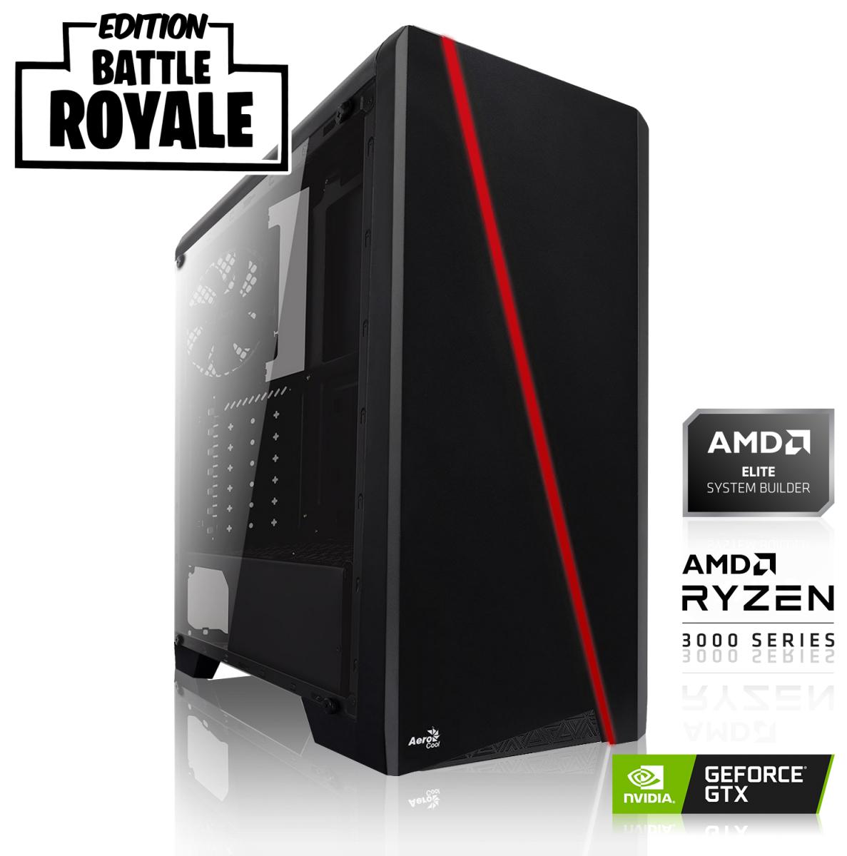 Sélection de PC Fixe en promotion - Ex : Battle Royale Édition - Ryzen 5 3600, 16 Go RAM, 1 To + 240 Go SSD, GTX 1660 Super 6 Go, sans OS
