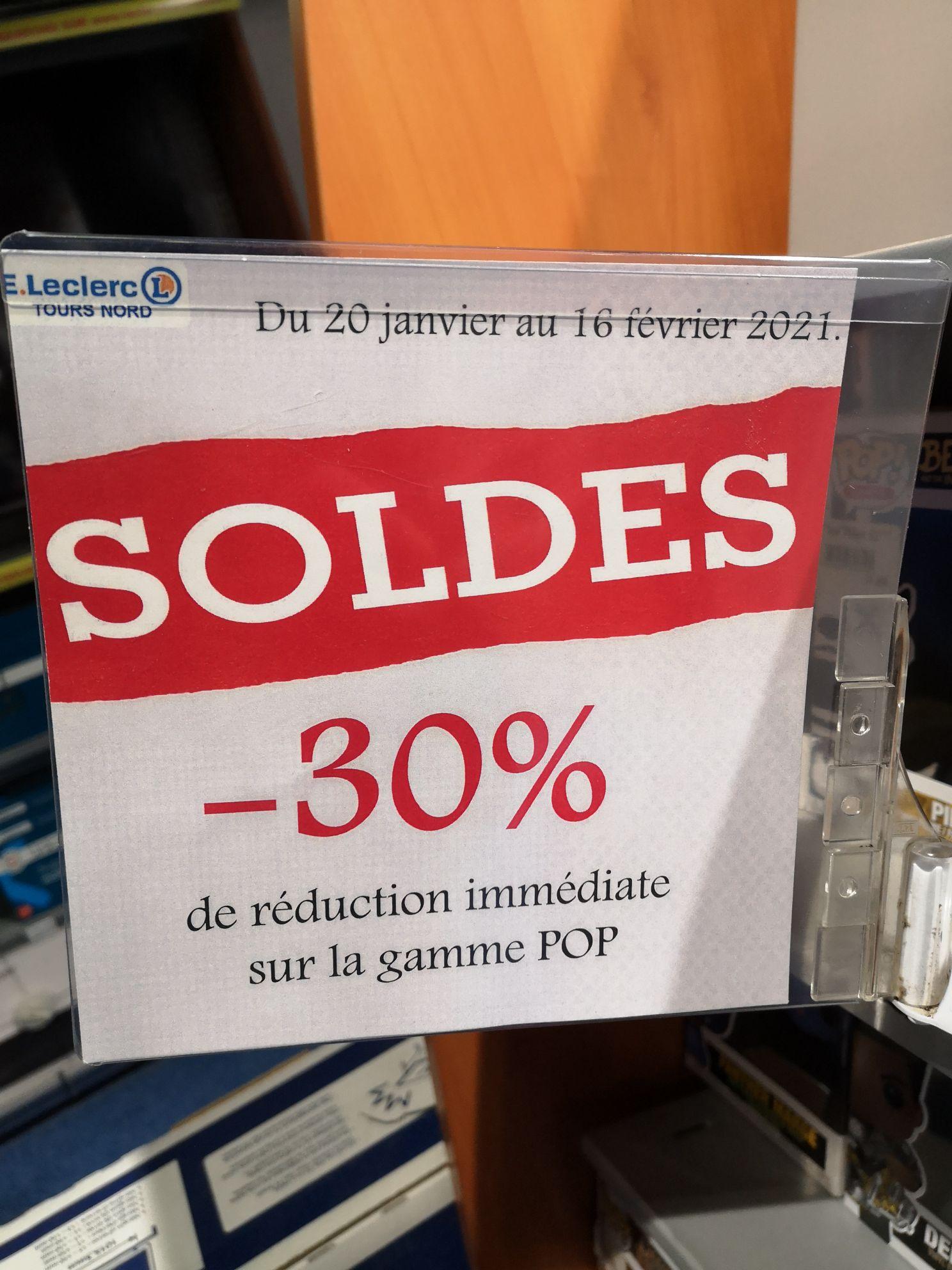 30% de réduction sur toute la gamme Figurines Funko Pop - Leclerc Tours Nord (37)