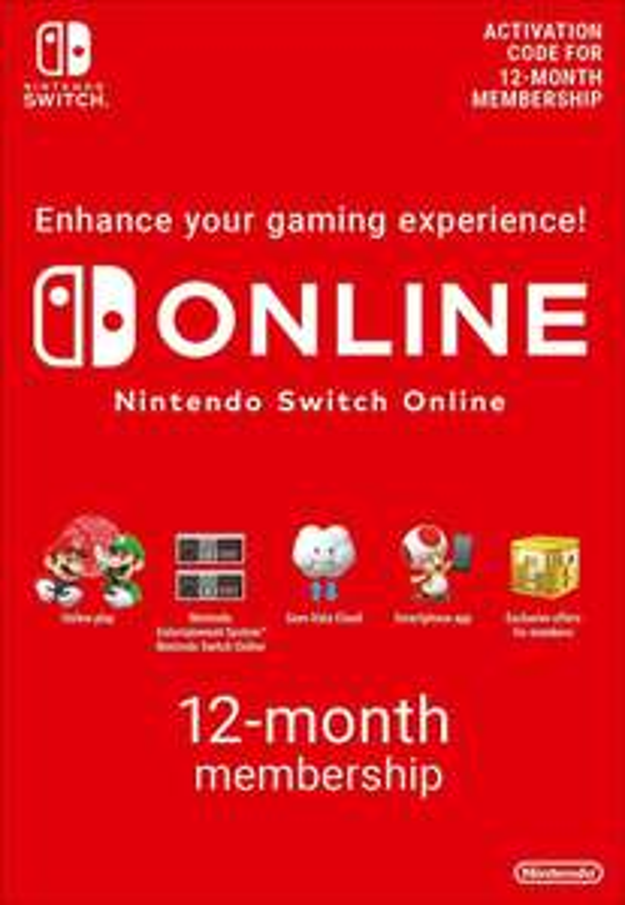 Abonnement de 12 mois au Nintendo Switch Online (Dématérialisé)