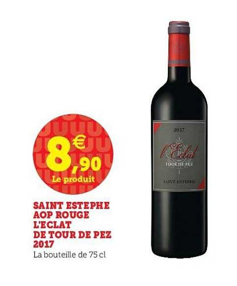 Bouteille de vin Saint Estèphe Eclat de Tour de Pez 2017 - 75cl