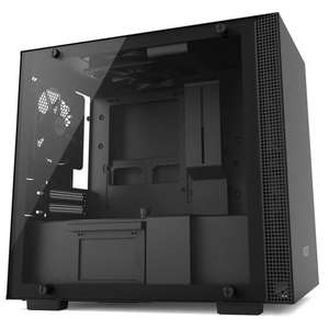 Boîtier PC NZXT H200 - Mini-ITX, panneau en verre trempé, noir