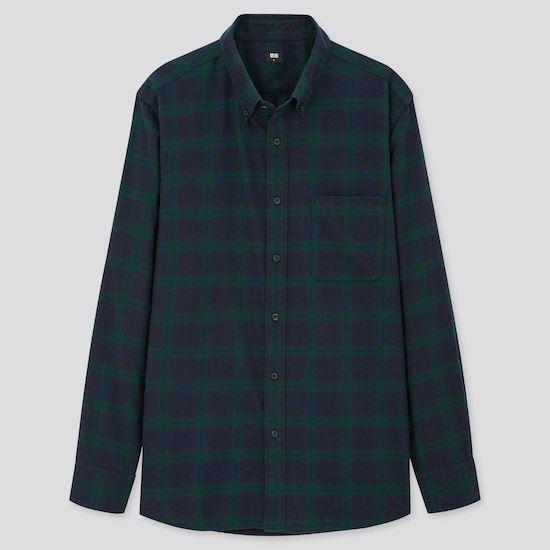 Chemise à carreaux en flanelle - vert foncé ou violet (du XS au XL)
