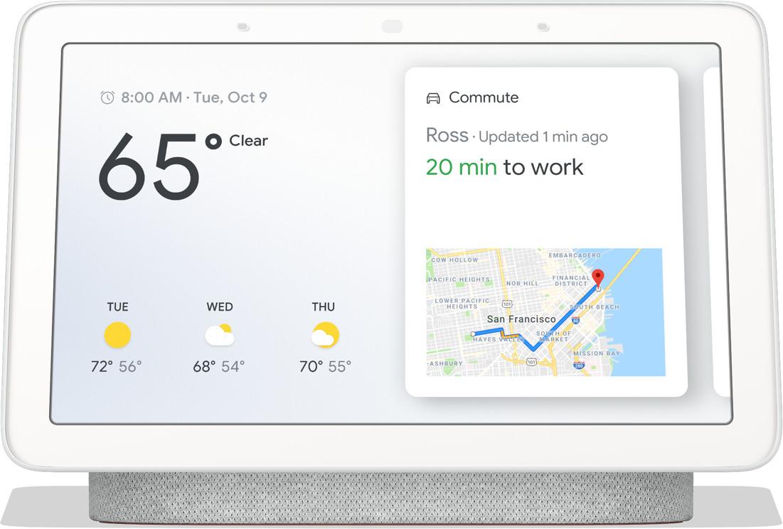 """Assistant vocal 7"""" Google Nest Hub - coloris galet"""