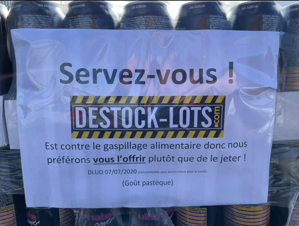Boisson énergisante Utimate Power Pastèque offerte en magasin Destock Lots (Clermont-Ferrand 63)