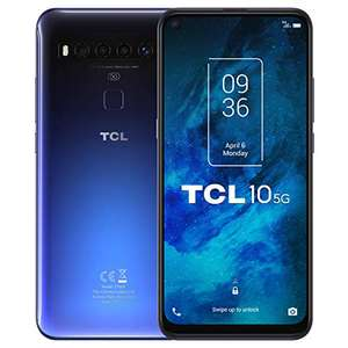 "Smartphone 6.53"" TCL 10 5G - 128 Go ROM, 6 Go RAM, FHD+, Qualcomm 765"