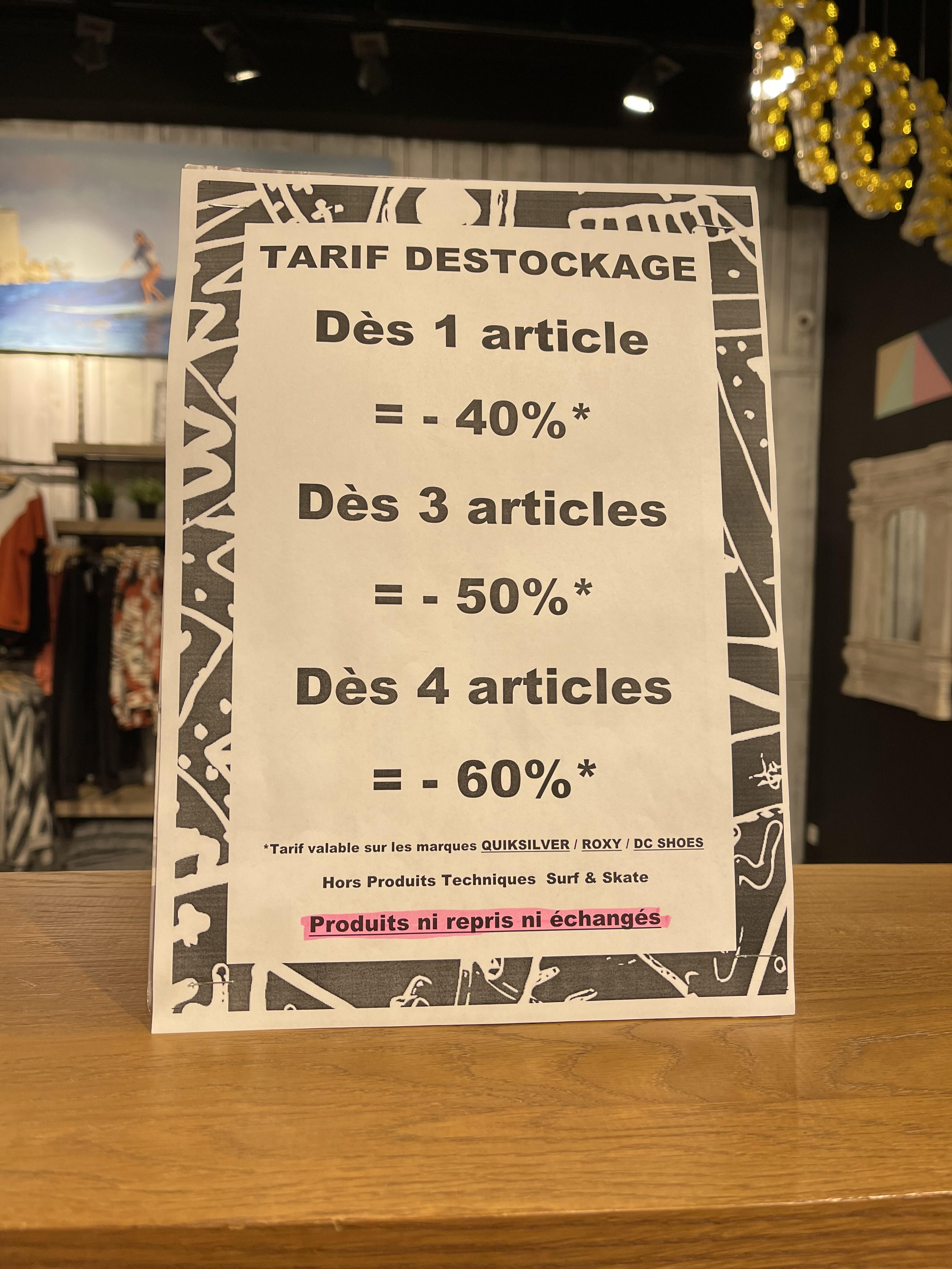 40 à 60% de réduction sur les marques Quiksilver, Roxy & DC Shoes - Marseille (13)