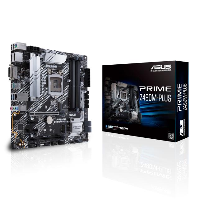 Carte mère Asus Prime Z490M Plus - Micro-ATX, Socket 1200