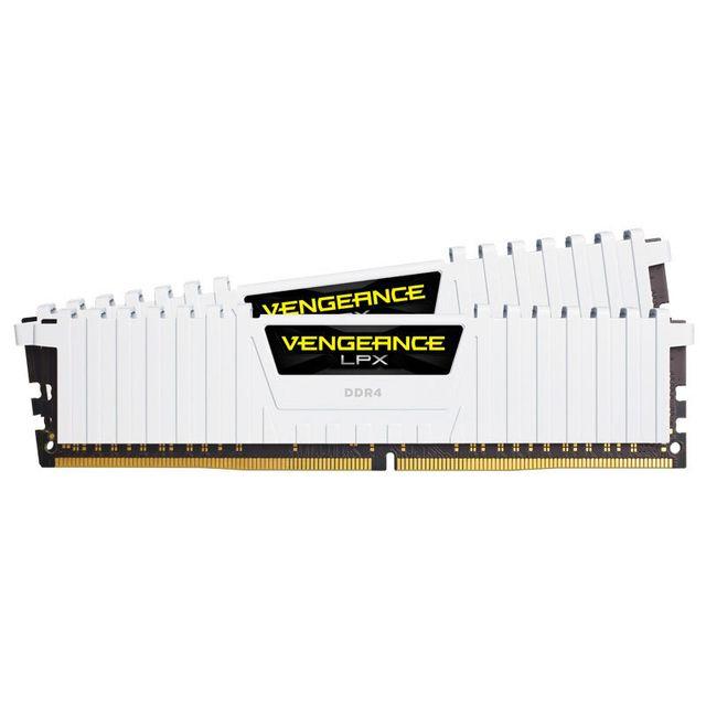 Kit mémoire RAM Corsair Vengeance LPX - 16 Go (2 x 8 Go), DDR4, 3000 MHz, CL15 (Blanc)